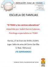 CARTEL INFORMATIVO ESCUELA FAMILIAS EN SAN BLAS